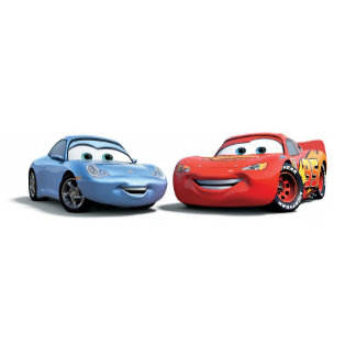 Cars' Lighting McQueen and Sally