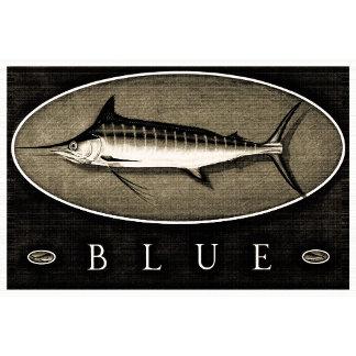Blue Marlin Vintage Black & White