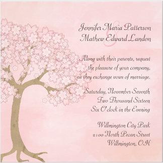 Pink Cherry Blossom Tree Wedding Set