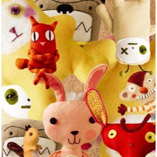 """Stuffed Animal Collage Photo Poster Print"""