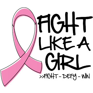 Breast Cancer Fight Like a Girl Pink Ribbon