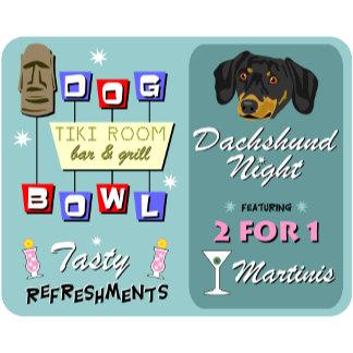 Dachshund Bowling Tiki Night