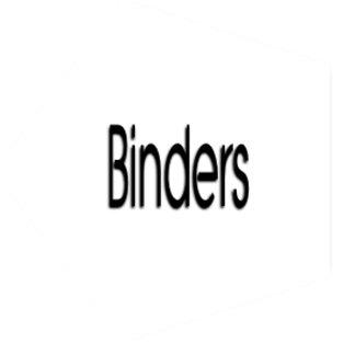 My Assorted Binders