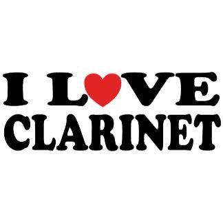 I Love Clarinet Tees