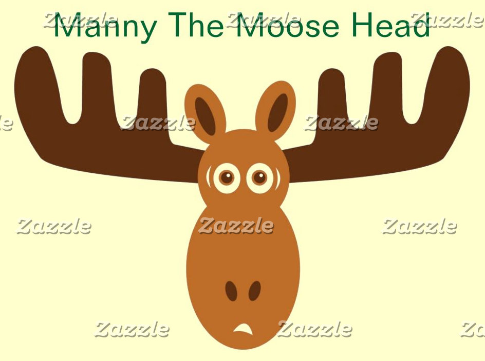 Manny The Moose Head