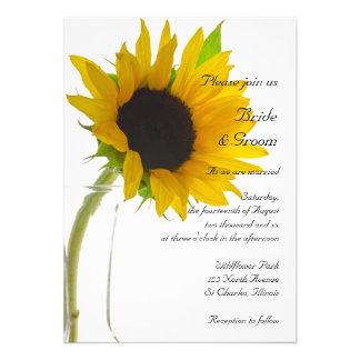 Sunflower on White Wedding