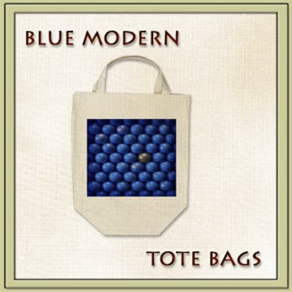 BLUE MARBLE TOTE BAGS