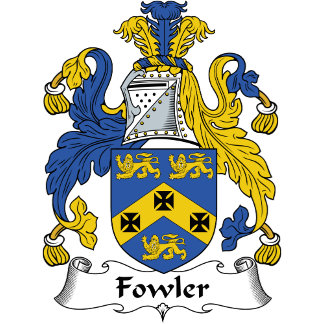 Fowler Family Crest / Coat of Arms