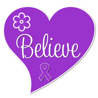 Epilepsy Believe Purple Heart