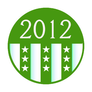 2012 Round Seal Green Color Party Version