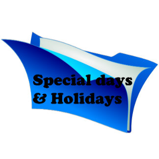 Special days & Holidays