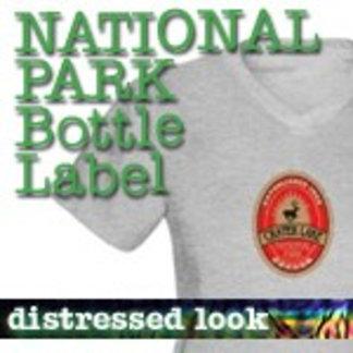 Bottle Label National Park T-Shirts