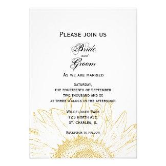 Sunflower Graphic Wedding