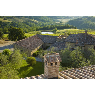 Italy, Tuscany. Roofop view of the villa