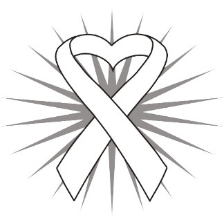Lung Cancer Heart Ribbon