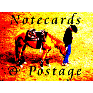 Notecards and Postage stamps