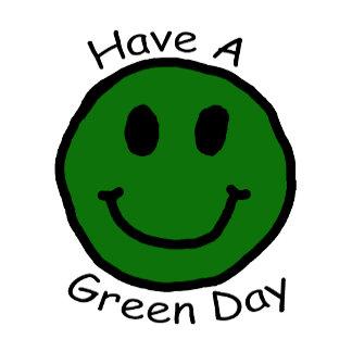Have A Green Day Retro Smiley Face