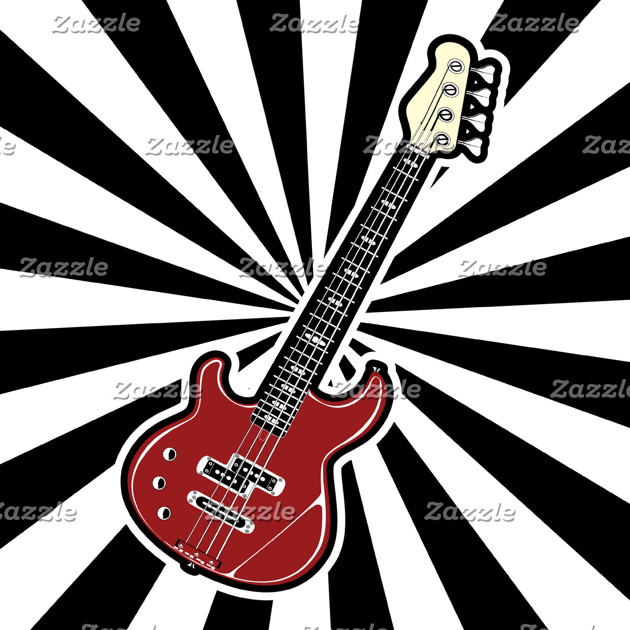 Electric guitar and psychedelic background