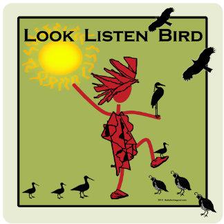Look Listen Bird in Olive
