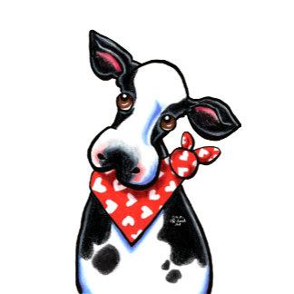 Cow w Heart Hanky