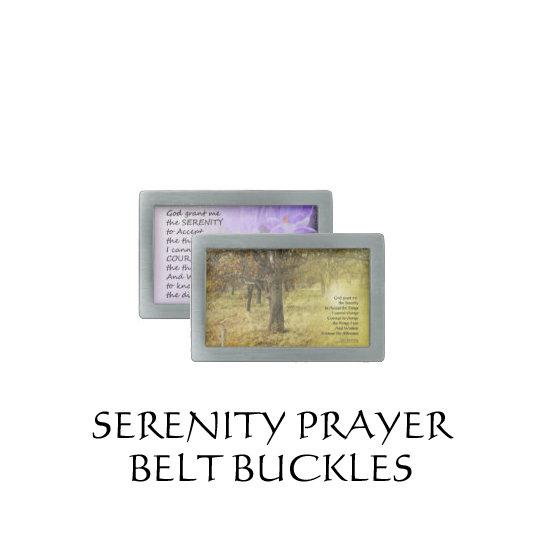 Serenity Prayer Belt Buckles