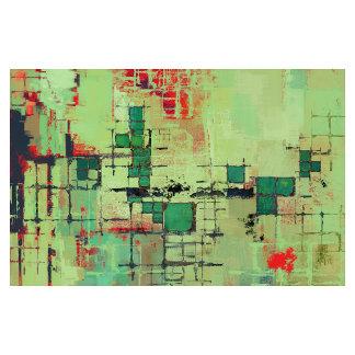 Green Lattice Abstract Art