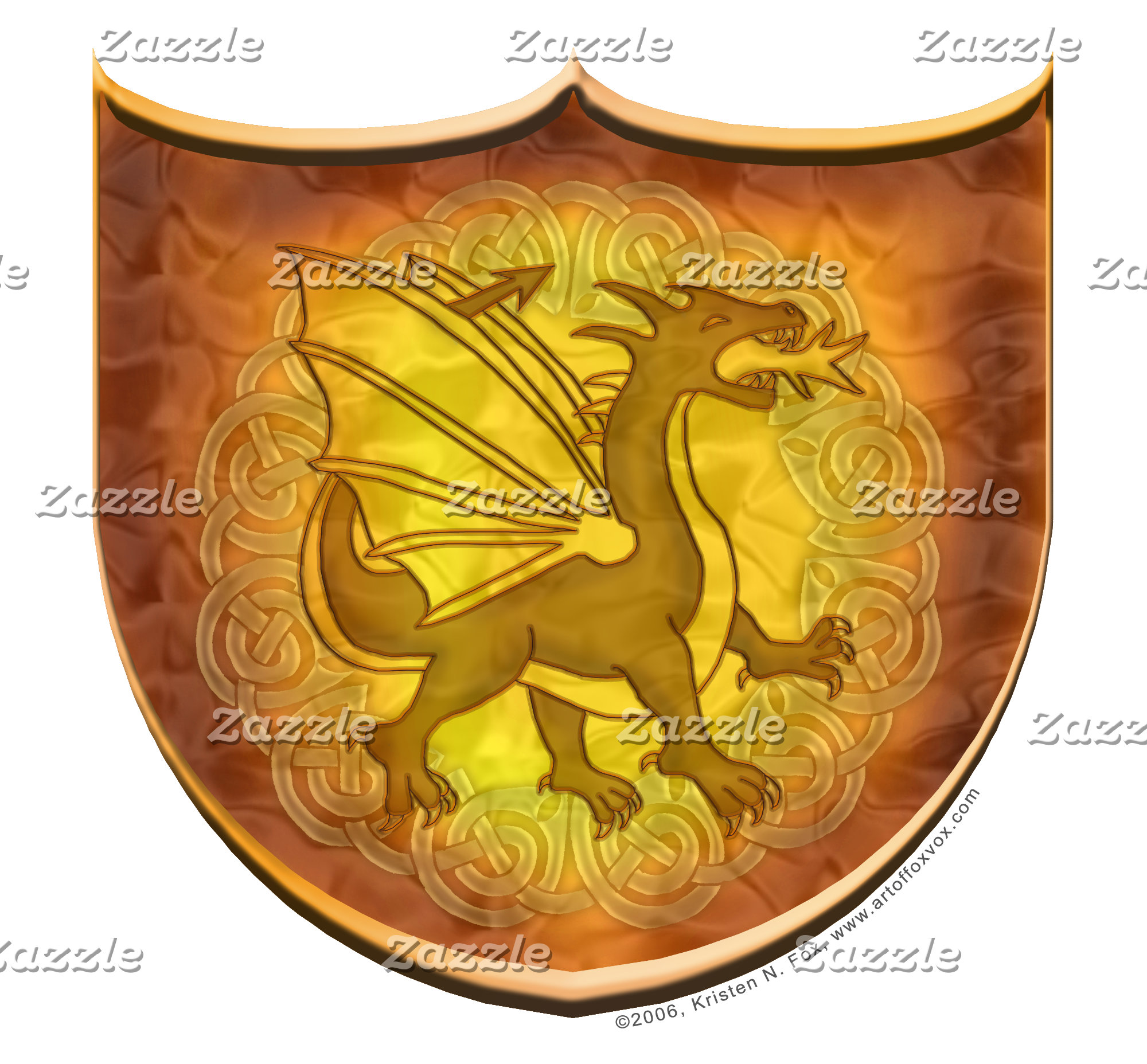 Copper Dragon Shield