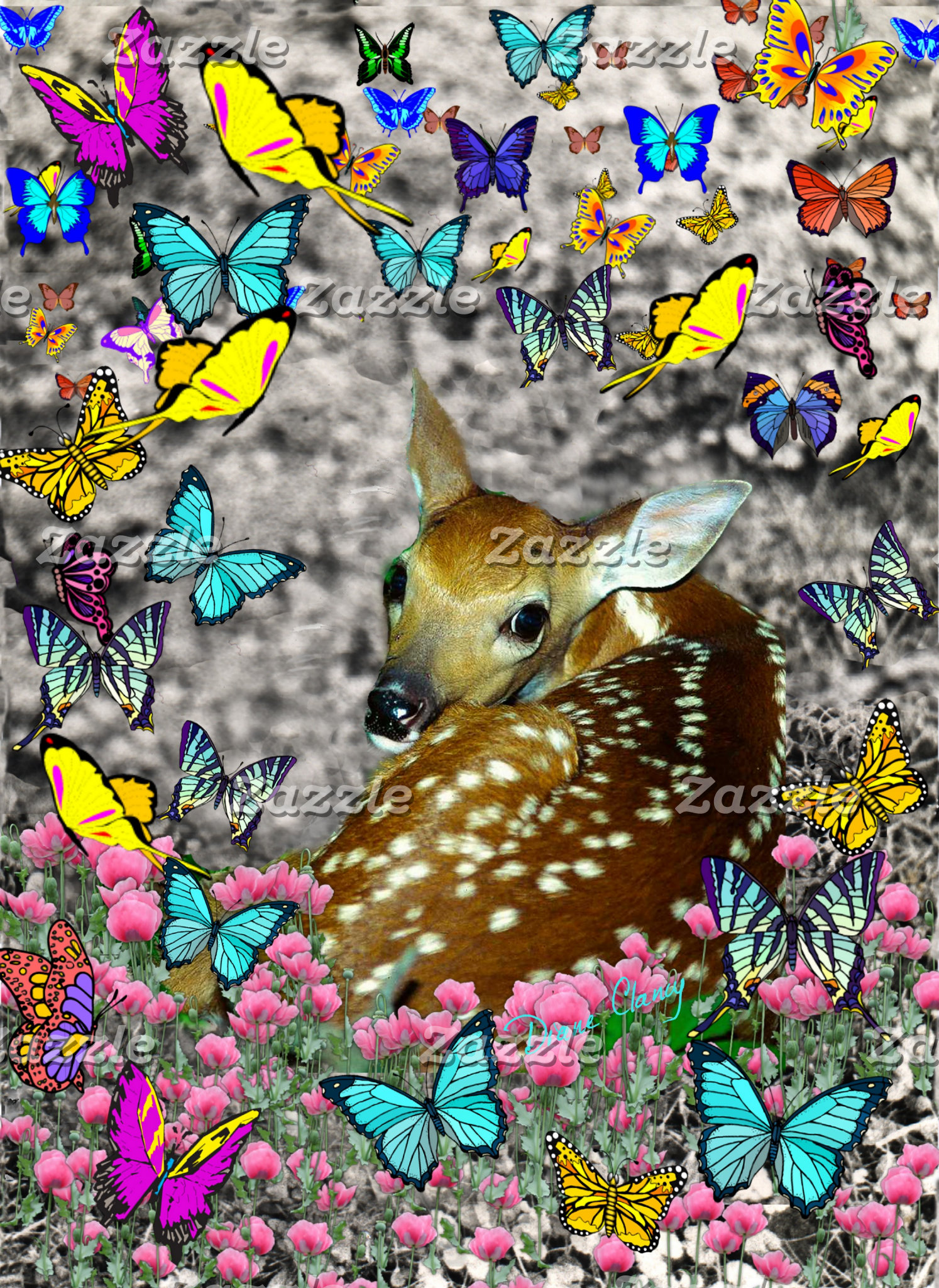 Bambina the Fawn in Butterflies