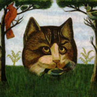 Vintage Cat Head (Cheshire Cat)