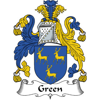 Green Family Crest / Coat of Arms