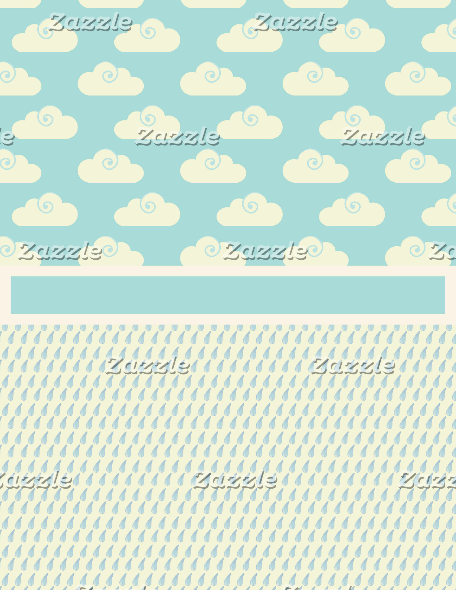 Blue and White Fluffy Clouds and Rain