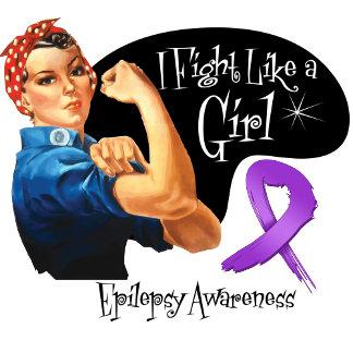 Epilepsy Fight Like a Girl Rosie The Riveter