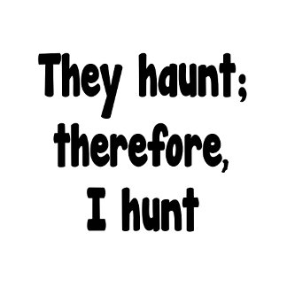 Ghost Hunting Philosophy - They haunt,  I hunt