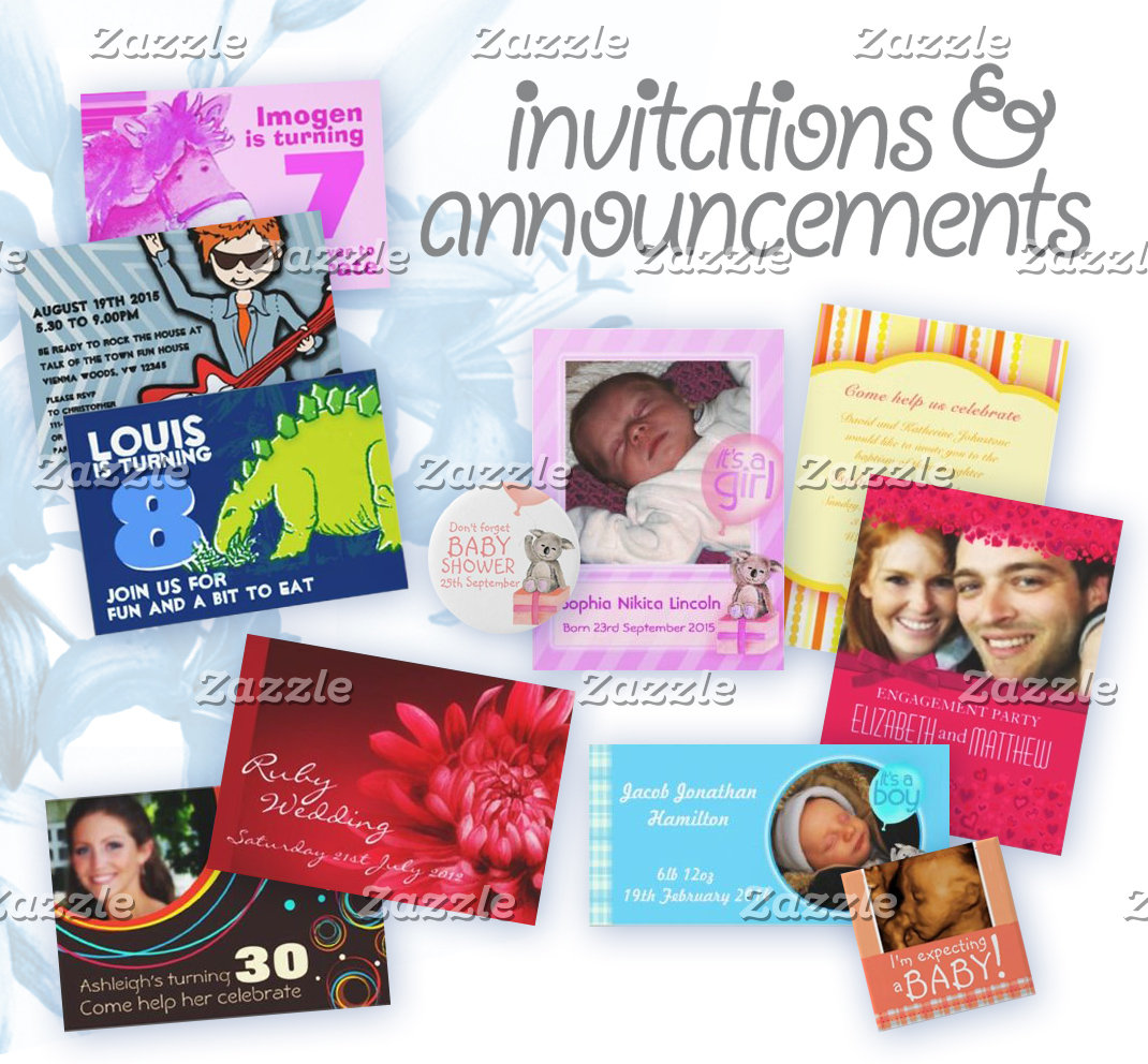 Invites & announcements