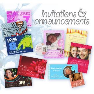 Invites & announcements