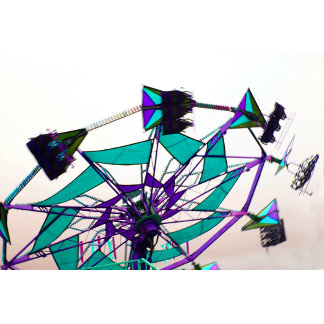 purple green fair ride flying midway