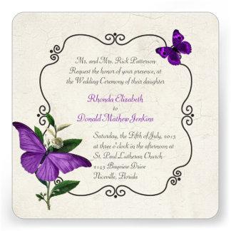 Purple Vintage Butterflies Wedding Products