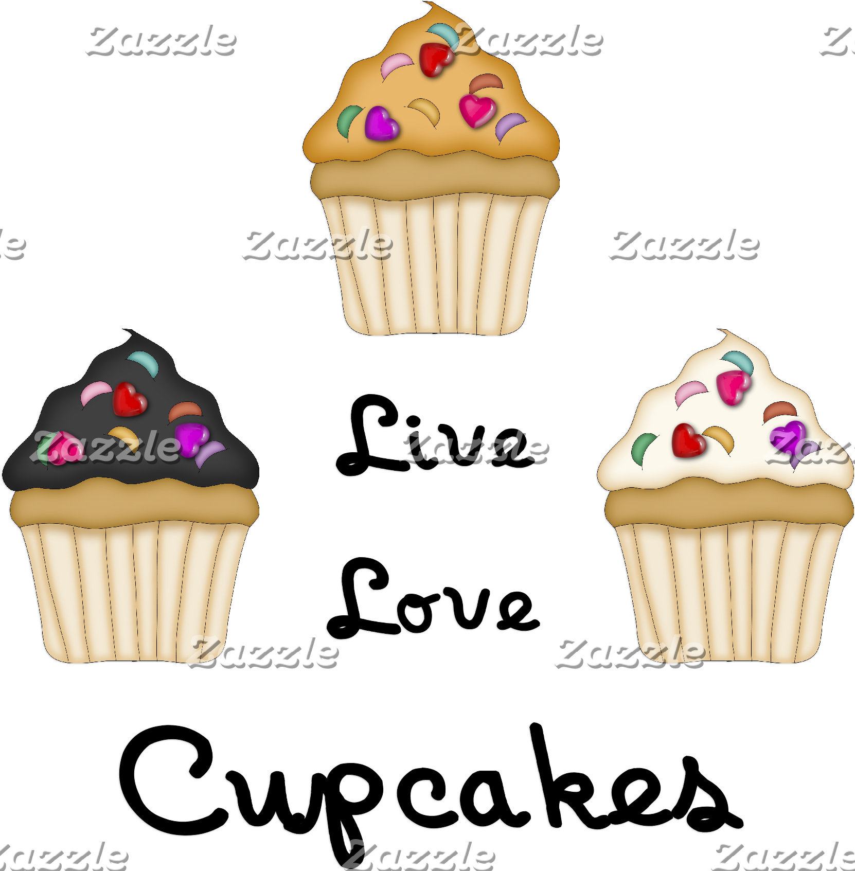 Cupcakes Live Love