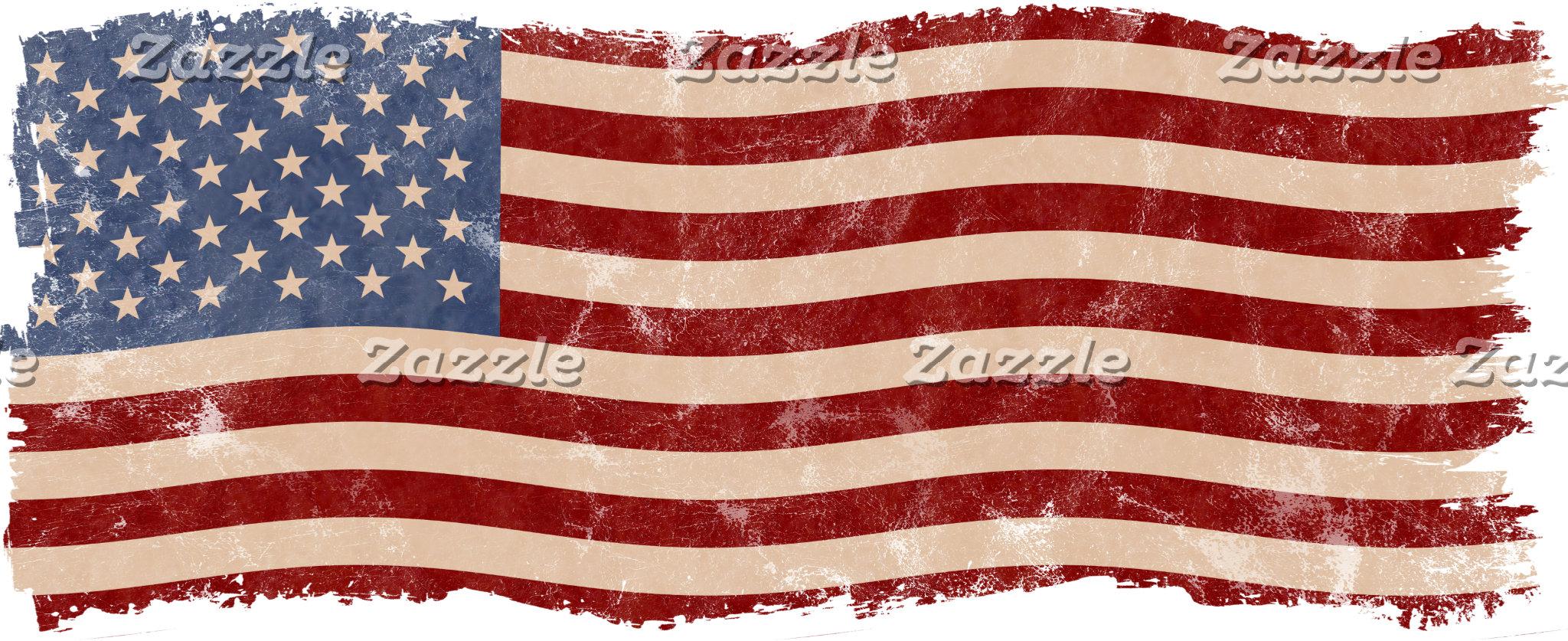 Distressed Vintage American Flag