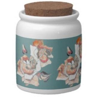 Jars with cork top