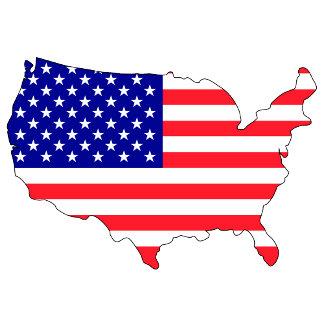 Usa Flag Map full size