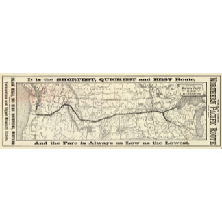 Map of the Northern Pacific Railroad