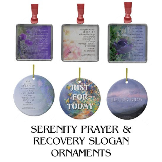 Serenity Prayer & Recovery Slogan Ornaments