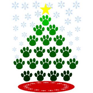 Paw Prints Christmas Tree