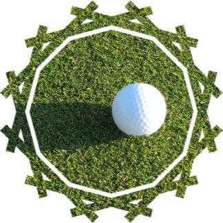 Golf Ball on Golf Green