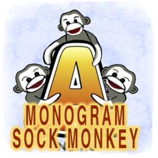 Monogram Sock Monkeys