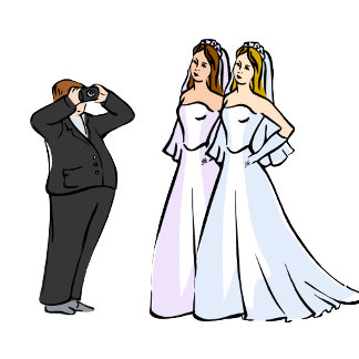Two Brides being Photographed