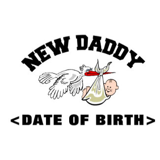 Baby Boy Personalized New Daddy T-Shirts Gifts
