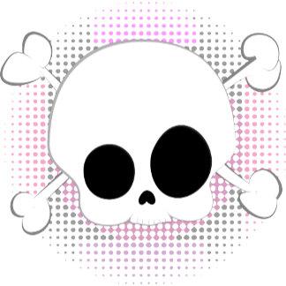 Cute skull and crossbones