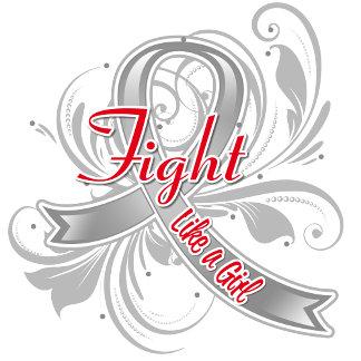 Brain Tumor Fight Like a Girl Flourish